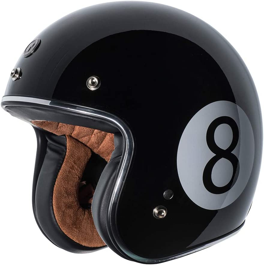 T50 Route 66 3//4 Helmet with Rebel Star Graphic TORC White, X-Large