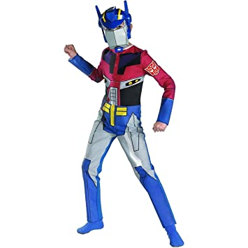 transformers animated optimus prime quality halloween costume size 7 8