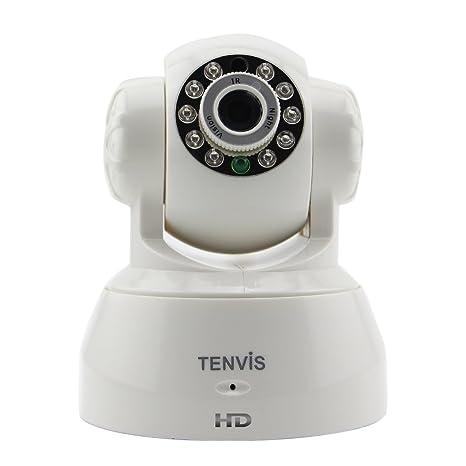 Gary&Ghost Tenvis Cámara IP JPT3815W 720 HD Inalámbrica Visión Nocturna Rotación 340º, Control desde el ...