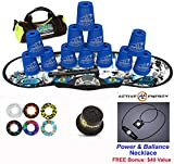 Speed Stacks Combo Set ''The Works'': 12 BLUE 4'' Cups, REBEL MUDD Gen 3 Mat, G4 Pro Timer, Cup Keeper, Stem, Gear Bag, 6 Snap Tops + Active Energy Necklace