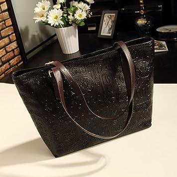 Aoligei Mujeres Pack Chao Europeo y americano las mujeres Pack Coreano versión moda bolso de señora rica Oracle Prüne: Amazon.es: Deportes y aire libre