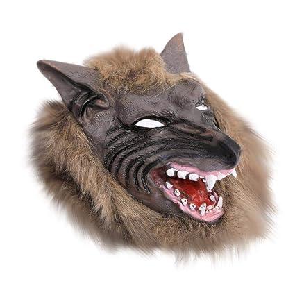 OHQ MáScara Halloween Máscara de Terror máscara de Cabeza Lobo Halloween MáScara Cosplay De Halloween Almohada