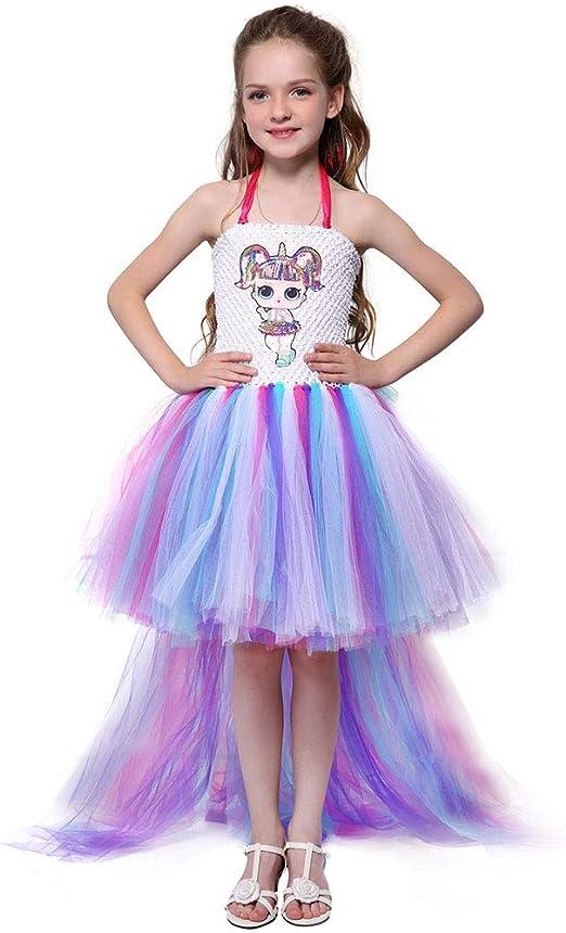 QYS Vestido para niñas LOL Falda tutú para niños Ropa Regalo de ...