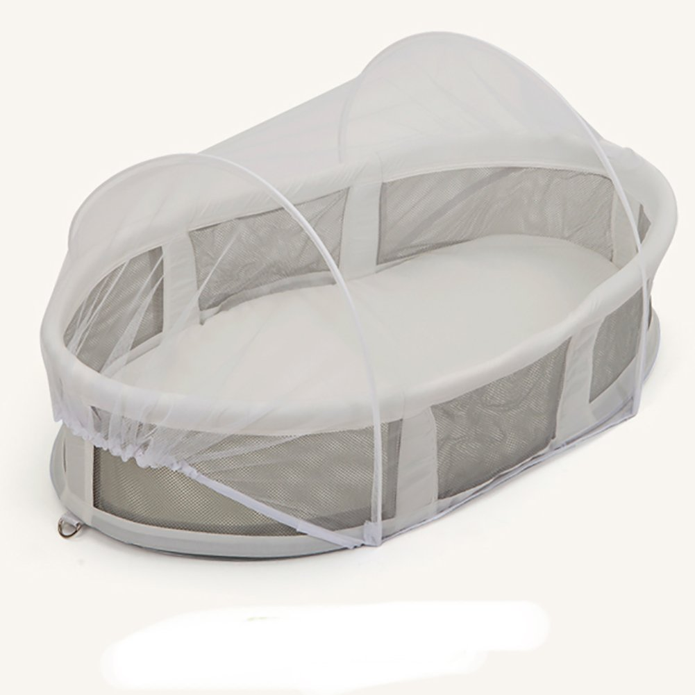 Aik@ Foldable Multifunctional Portable Travel Bett Co-Sleeping,100% Cotton Breathable Cribs mit Mosquito Net Lightweight Baby Bett Suitable für 0-1 Year-A