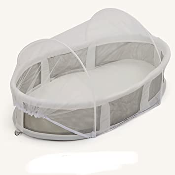 Aik@ Foldable Multifunctional Portable Travel Bed Co-Sleeping,100/% Cotton Breathable Cribs with Mosquito Net Lightweight Baby Bed Suitable for 0-1 Year-A