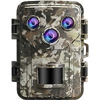 Yardwe Câmera de Trilha 6Mp 1080P Sensor Infravermelho à Prova D'água Câmera de Observação de Animais Selvagens Câmera…