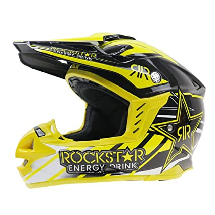 LETU Casco De Motocross Adulto MX Casco De Moto ATV Scooter ATV Casco D.O.T Certificado Rockstar