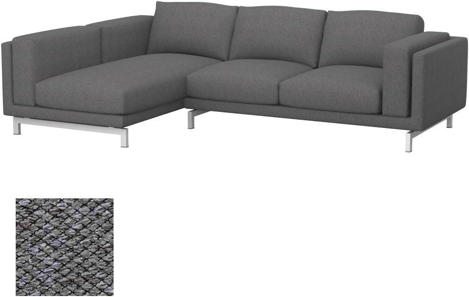 Soferia - IKEA NOCKEBY Funda para sofá de 2 plazas, Izquierda, Nordic Grey: Amazon.es: Hogar