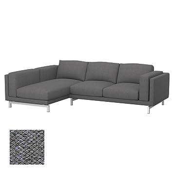 Amazon De Soferia Bezug Fur Ikea Nockeby 2er Sofa Mit Recamiere