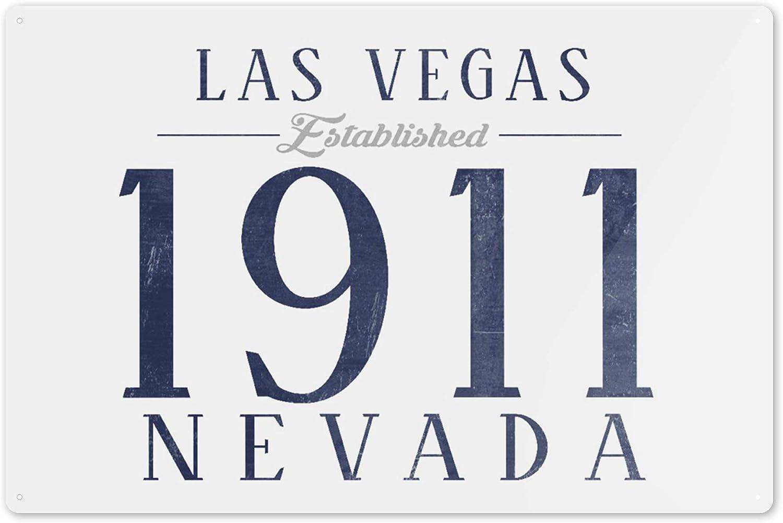 Established Date Nevada Las Vegas 16x24 SIGNED Print Master Art Print - Wall Decor Poster 67235 Blue