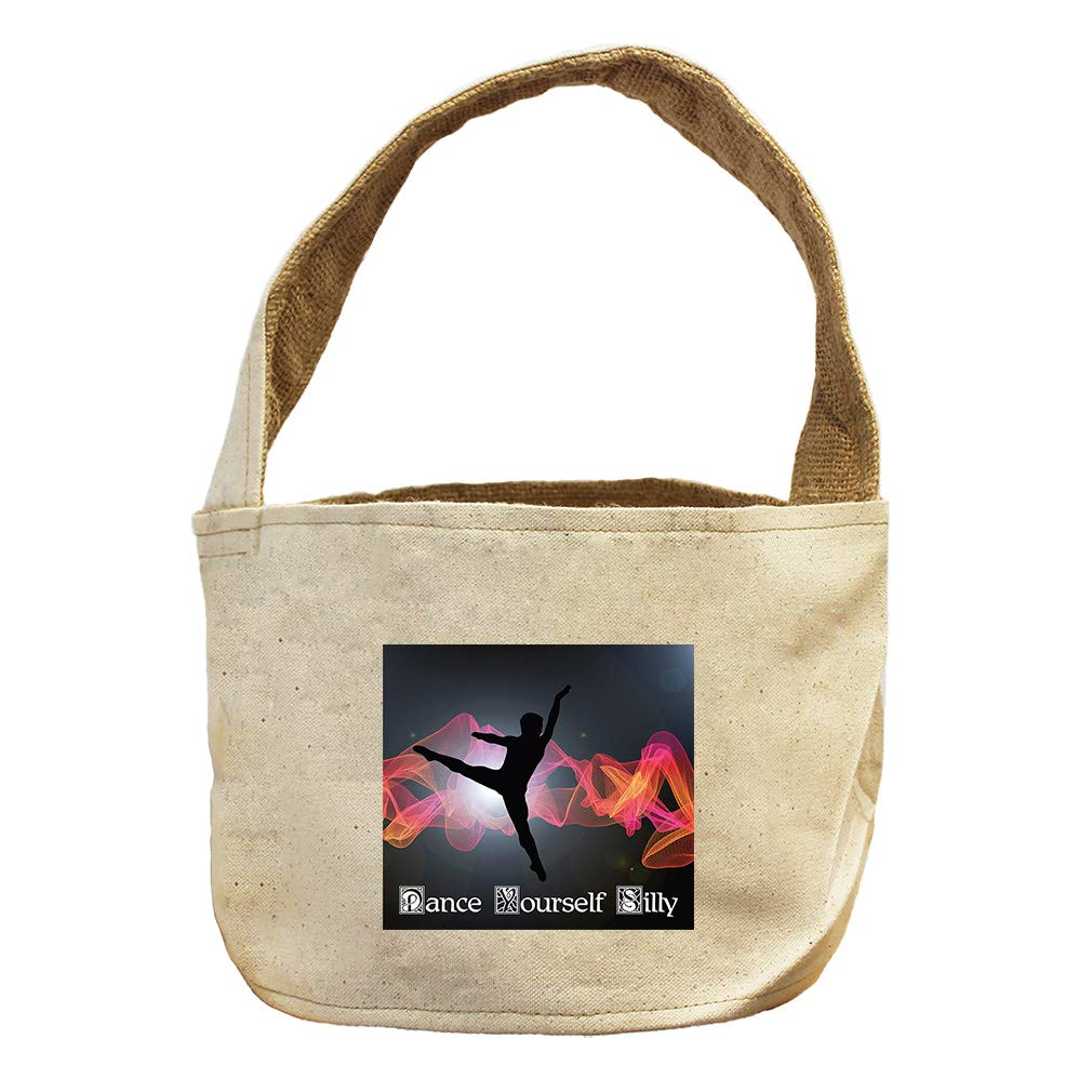 Style in Print Move Yourself Senseless Dance #2 Canvas and Burlap Storage Basket