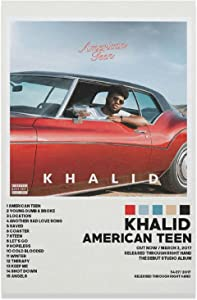 Khalid Poster American Teen ^ Canvas Poster Bedroom Decor Sports Landscape Office Room Decor Gift Unframe-style112×18inch(30×45cm)