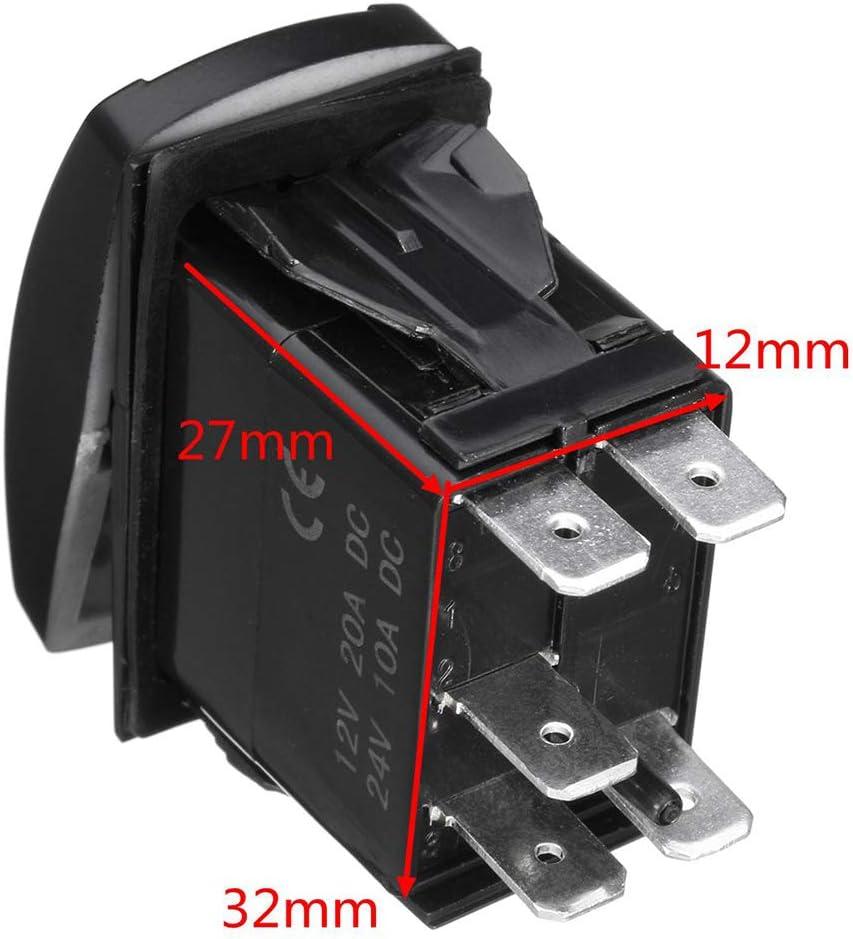 Grebest Rocker Switch Wiring Harness Car Interior Parts Switch 12V LED Fog Light Rocker On//Off Switch Wiring Harness 40A Relay Fuse Kit