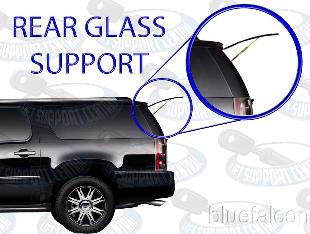 Not The Larger Hatch//Liftgate Supports GMC Yukon Tahoe Cadillac Escalade Note: These Are The Smaller Supports For The Back Rear Window Glass Two Gas Charged Lift Supports For 07-14 Chevy Suburban