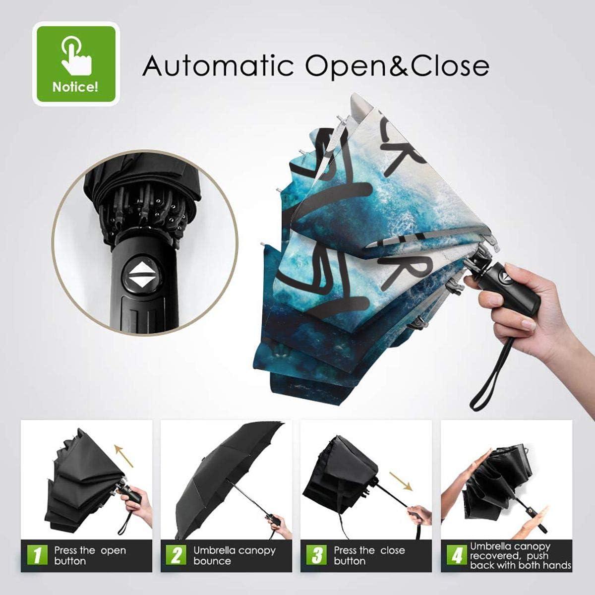 XinGanXian007 Unisex Dont Be A Sucker Novelty Windproof Auto Tri-Fold Umbrella for Outdoor