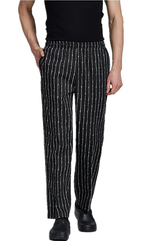 XinAndy High End Unisex Grandmaster Chef Pants Pinstripe Style