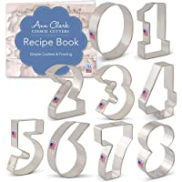 Ann Clark Cookie Cutters Numbers Cookie Cutter Set - 9 Piece - Tin Plated Steel