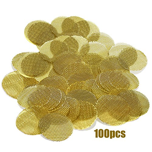 Scotte 100pieces Brass Tobacco Pipe bowl screens 19mm diameter filter screens for smoking ()