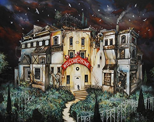 dennis0yopen-oil-paintings-welcome-home-printed-on-canvas-pictures-for-living-room-home-decor-12x16-
