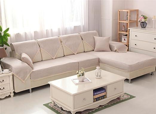 XH @ G ablashi lino y algodón sofá cubierta cojín Fashion ...