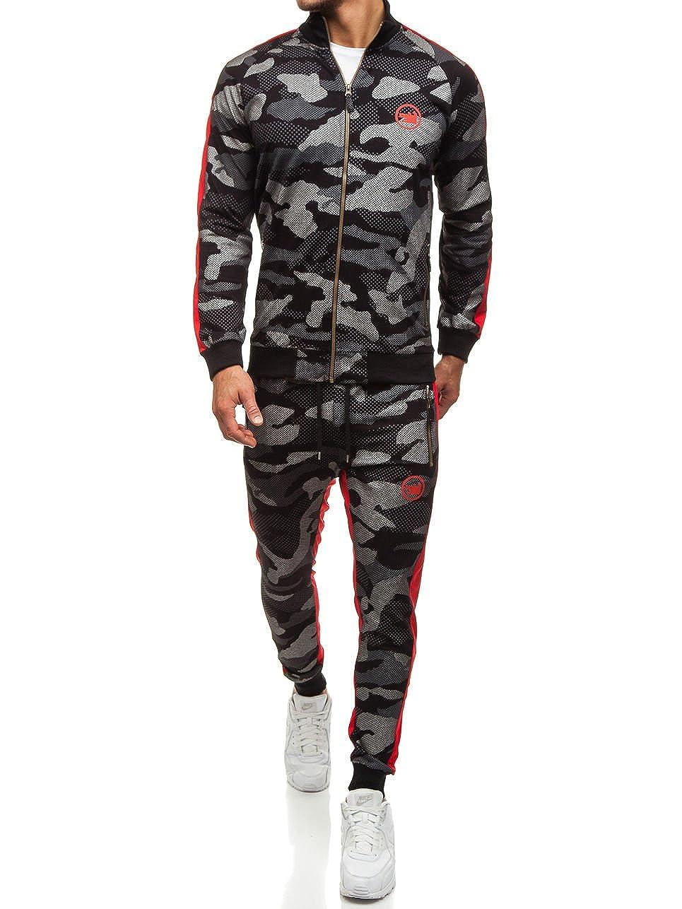 BOLF Herren Jogginganzug Sportanzug Sweatshirt Sporthose Sport Training 8H8 Motiv CATCH 0944