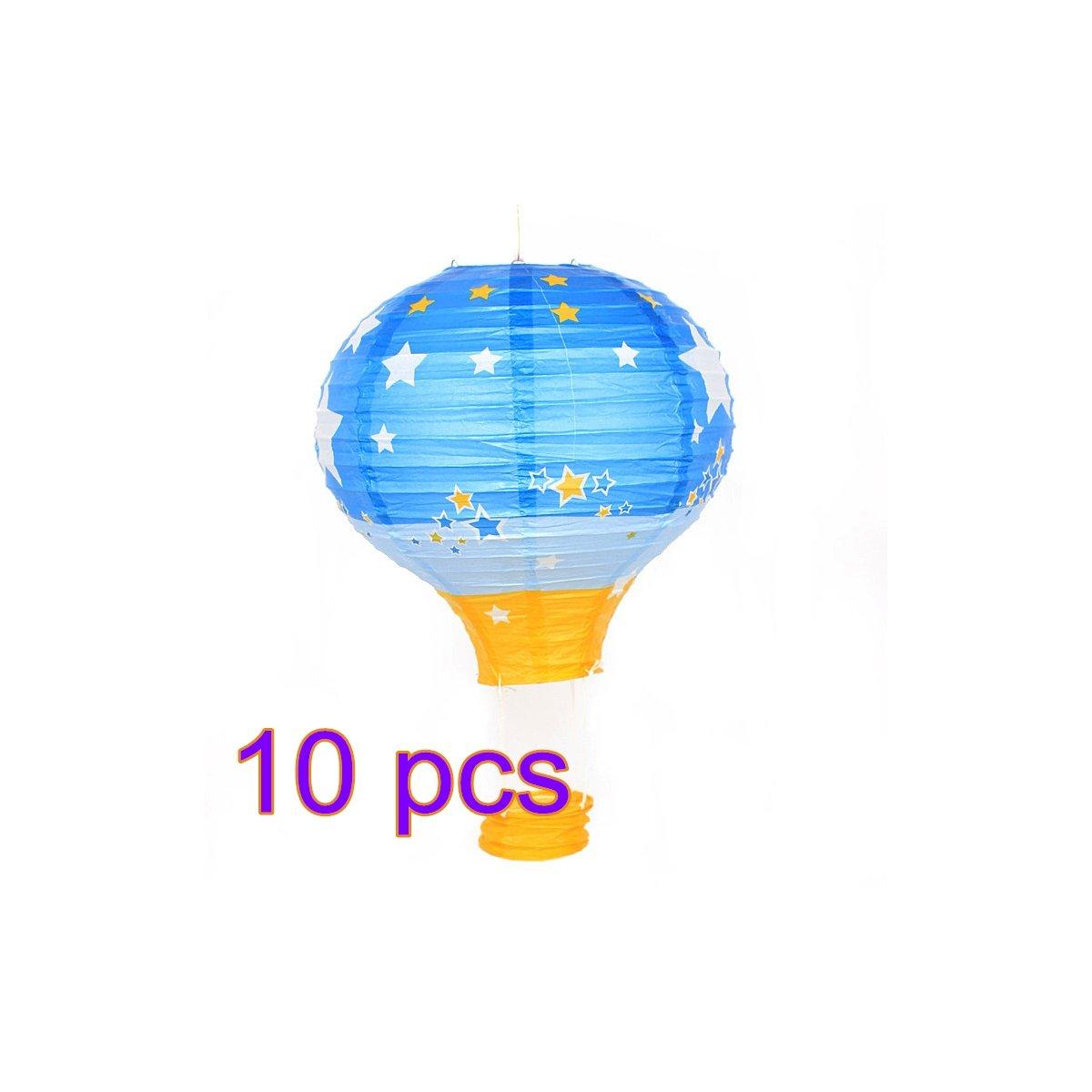 tueselesoleil Lantern Ball Lamps Rainbow Printing Paper Lantern Colorful Hot Air Balloon for Wedding Party Birthday Stage Bar Market Decor