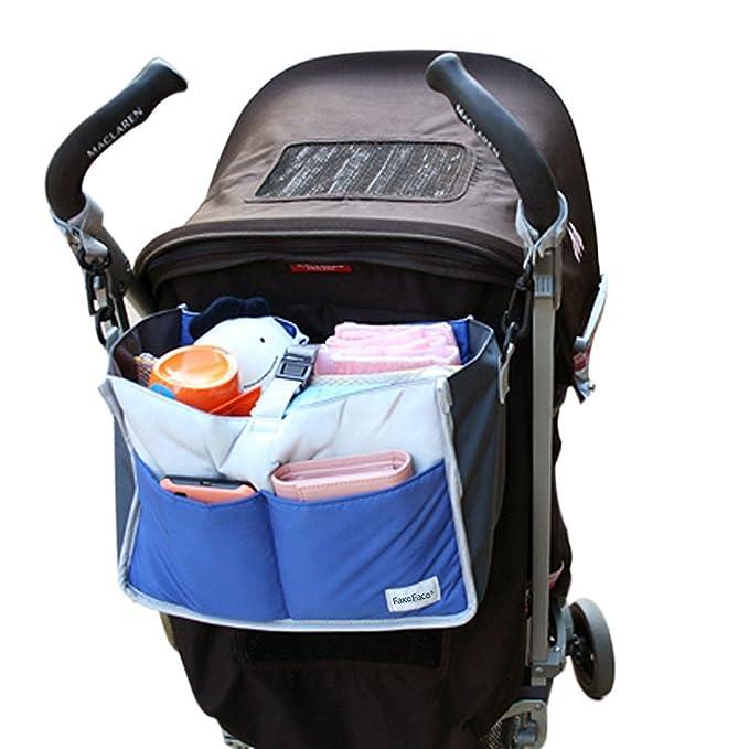 OurKosms® de múltiples funciones de nylon del cochecito de bebé del cochecito de niño Cochecito almacenaje colgante del bolso / la bolsa de pañales Insertar ...