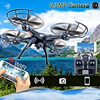 Cewaal Upgraded X5C-1 Remote Control Quadcopter Drone with HD Camera,Fine-tuning Speed Switching 3D Tumbling Cool Lights Headless Mode for Beginners
