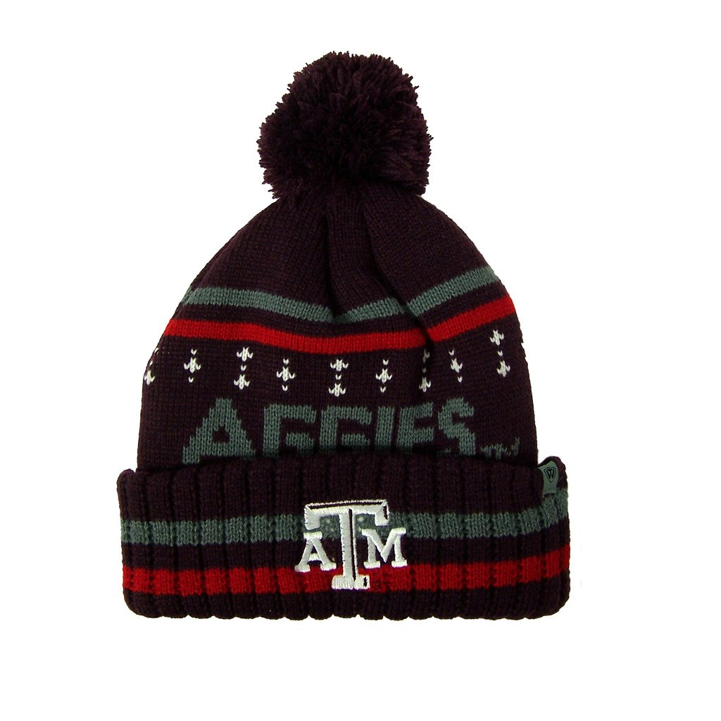 meet 88416 d1e96 Amazon.com   Texas A M Aggies Official NCAA Barometer Cuffed Knit Beanie  Stocking Hat 045126   Sports   Outdoors