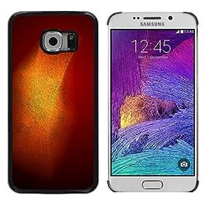 LECELL--Funda protectora / Cubierta / Piel For Samsung Galaxy S6 EDGE SM-G925 -- Gold Shiny Shine Orange Pastel --