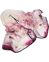 HuaYang Fashion Dessin d'encre design longue écharpe en mousseline de soie foulard des femmes(Peche)