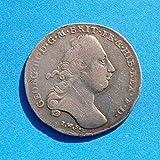 1781 DE German States Brunswick (Braunschweig)-Luneburg-Calenberg-Hannover George III Coin One Third Thaler Very Good Details