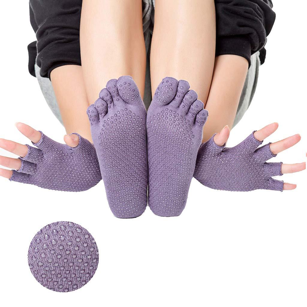 gamma molto ambita di super speciali prezzi economici HappyTime Yoga Calze Guanti Set, Cotone Donna Traspirante ...