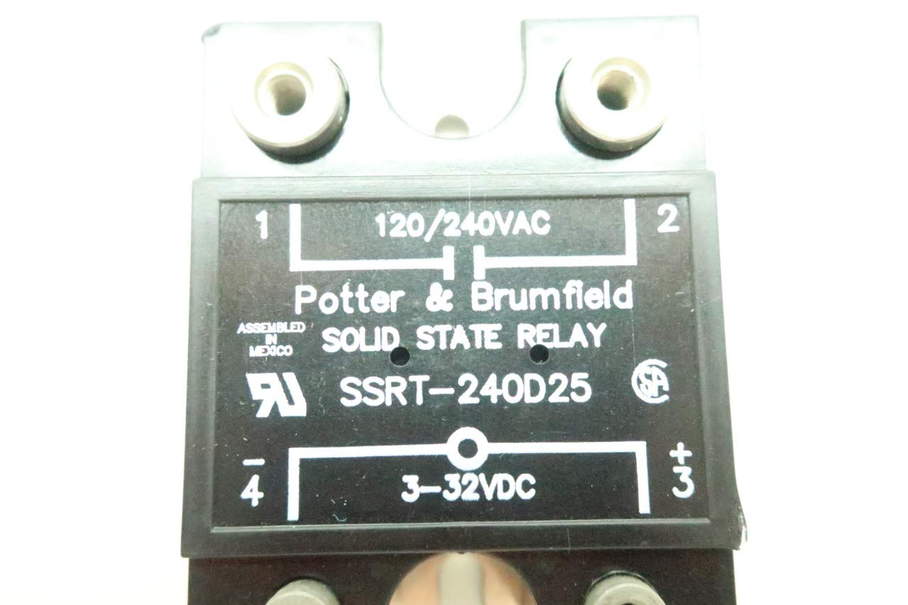 POTTER /& BRUMFIELD SSRT-240D25 SOLID STATE RELAY 120//240VAC 3-32VDC