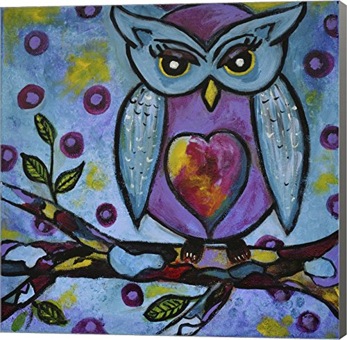 Owl by Jane Hinchliffe Canvas Art Wall Picture