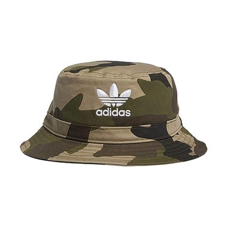 504b17410 adidas Men's Originals Camo AOP Bucket Hat, Aop Camo Olive Cargo/White, One  Size