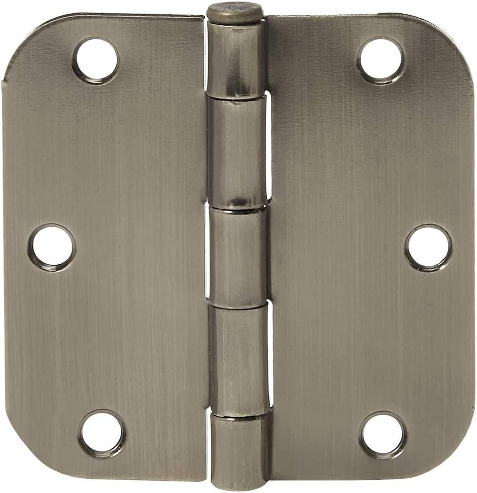 "36 Pack Polished Brass 3.5/"" x 3.5/"" 5//8 Radius Round Corner Interior Door Hinges"
