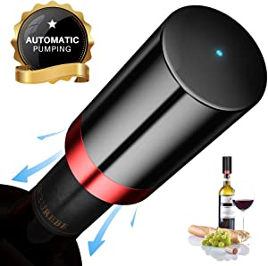 Wine Stopper Vacuum,Quntis Electric Wine Bottle Stoppers,Reusable Wine Corks, Wine Preserver, Decorative Wine Saver Vacuum Plug with Silicone,LED Indicator,Keep Wine Fresh, Best Gifts for Wine Lovers