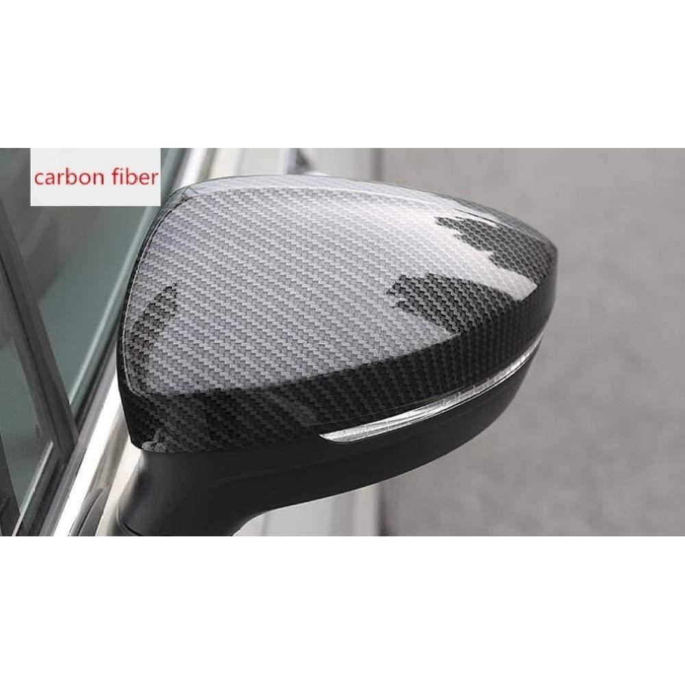 2 Pezzi//Set. FSXTLLL Copertura specchietto retrovisore Auto Copri Specchio in Fibra di Carbonio Adatta per VW tiguan 2017 2018 Accessori Auto