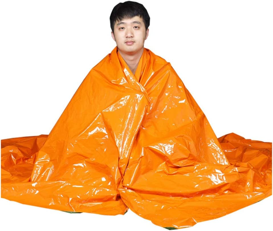2PCS Portable PE Practical Thicken Safety Blanket Emergency Blanket for Climbing