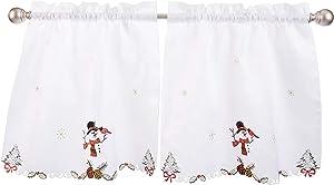 LORRAINE HOME FASHIONS Snowmen, Window Curtain Tier Pair, 58