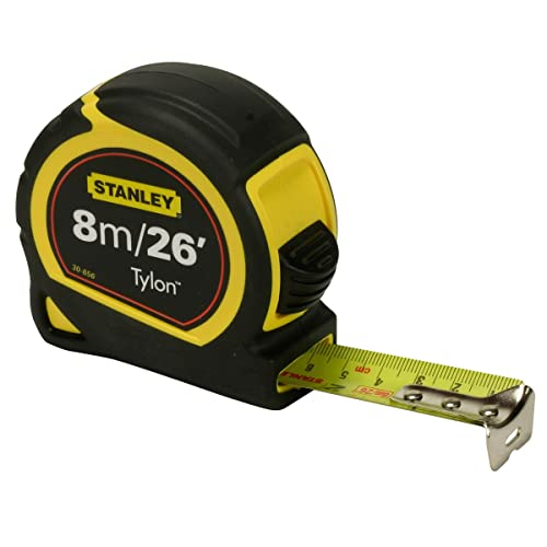 Stanley STA030656 Pocket Tylon Tape, 8 m/26 feet (25 mm) - Multi-Colour