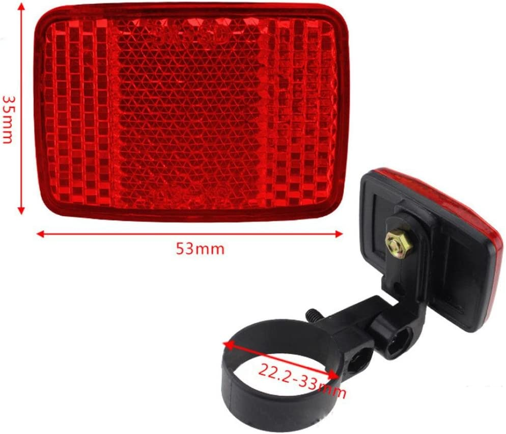 New Handlebar Mount Safe Reflector Bicycle Bike Front Rear Warning Red White