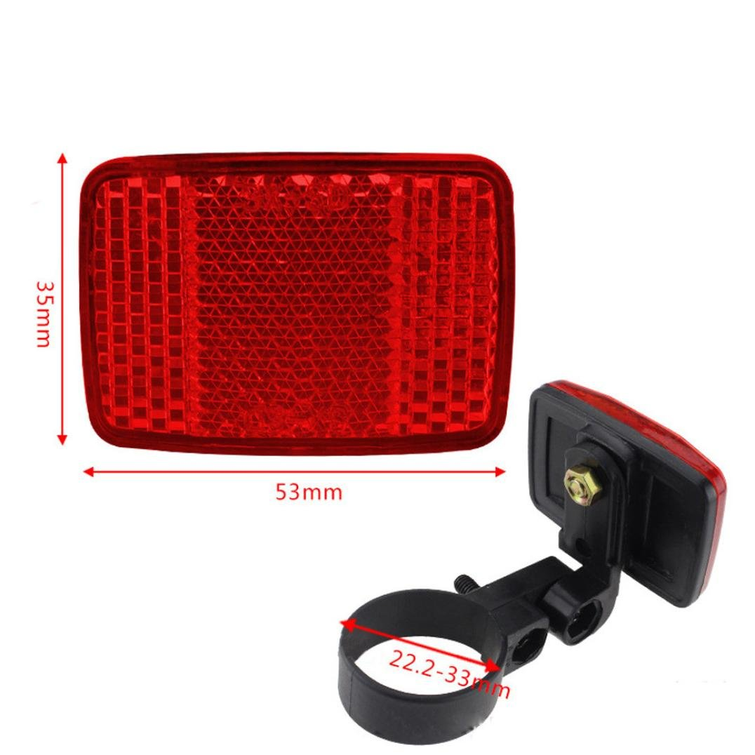 Exteren Bicycle Handlebar Mount Safe Reflector Bicycle Bike Front Rear Warning Red/White New (Red)