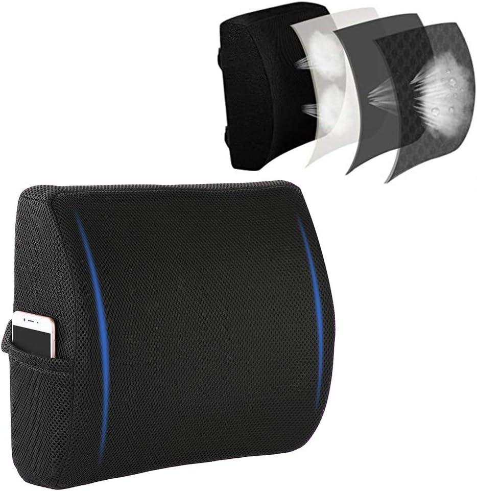 Coussins de voiture et de bureau Memory Foam Cushion- Premium Lumbar Lower Back Pain Support Pillow Improve Your Posture With Soft /& Firm Balanced Pillow Protect and Soothe Your Back