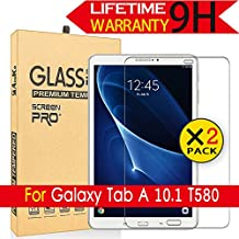 Galaxy Tab A 10.1 Glass Screen Protector,[2Pack] AnoKe[Case Friendly](0.3mm 9H) Tempered Glass Screen Protector Film Sheild For Samsung Galaxy Tab A 10.1,T580 / T585 Glass -2Pack