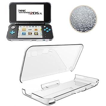 TopACE Ultra Slim Transparente TPU Silicona Funda Protective Case Funda Cover para New Nintendo 2DS XL (Transparente)