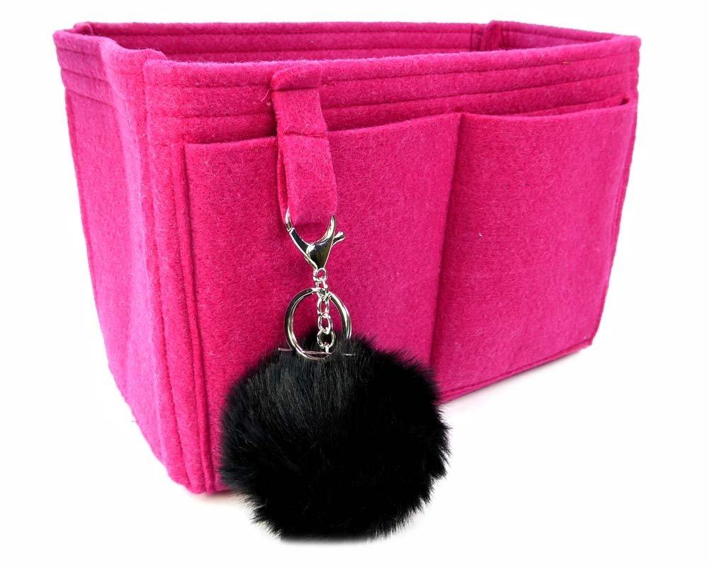 Felt Handbag Organizer by Original Club - LV Neverfull MM - Style 2-Fuchsia