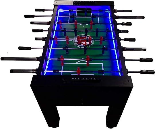 Warrior profesional futbolín mesa w/LED: Amazon.es: Deportes y aire libre