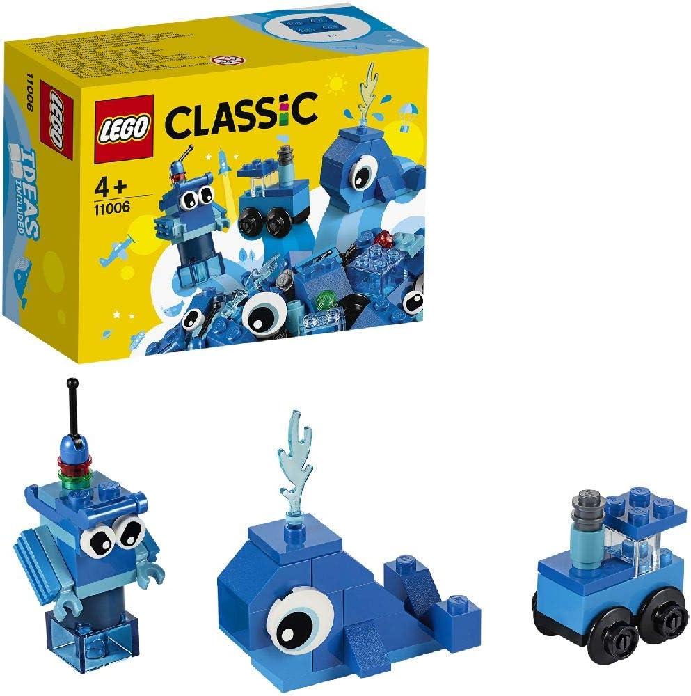 LEGO Classic - Ladrillos Creativos Azules, Juguete de Construcción ...